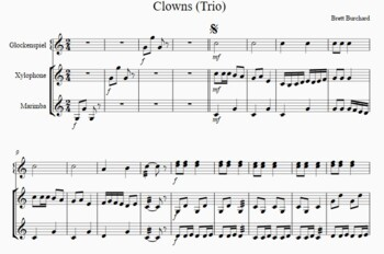 Clowns - mallet trio