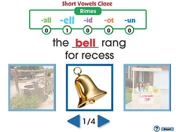 Word Families Short Vowels: Cloze - NOTEBOOK Gr. PK-2