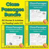 Cloze Passages & Comprehension Questions {Bundle}