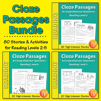 Cloze Passages & Comprehension Questions {Bundle}