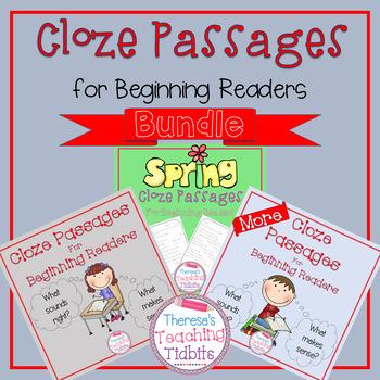 Cloze Passages for Beginning Readers BUNDLE