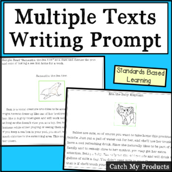 Close Reading Passages & Writing Prompt Using Multiple Tex