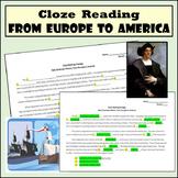 Cloze Reading Strategy: Europe to America - Feudalism, Columbus, & Slave Trade