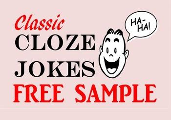 Cloze Reading Jokes (FREE Sample)