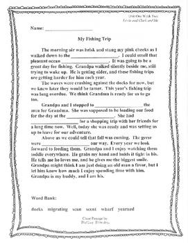 Cloze Reading Passage: Unit One Complete Set (Reading Street Aligned)