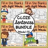 Cloze Sentences with Sight Words Bundle