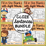 Cloze Sentences with Sight Words Bundle