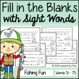 Cloze Reading with Sight Words Distance Learning (Print Ba