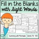 Cloze Reading with Sight Words - Distance Learning (Print