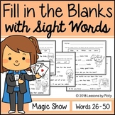 "Cloze Sentences with Sight Words ""Magic Show"""