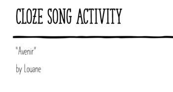 "Cloze Song Activity : ""Avenir"" by Louane"