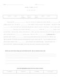 Cloze Word Hunt: Syllables & Affixes: Suffixes -er/-est/-ier/-iest
