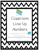 Classroom Line Up Numbers - Black Chevron