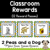 Classroom Management Reward Passes/Coupons