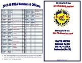 Club Meeting Agenda (EDITABLE / TEMPLATE)