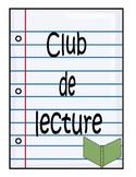 Club de lecture:  feuilles de reponse-lecture pour fiction et non-fiction
