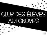 Club des élèves autonomes