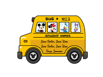 Clubhouse Bus Labels