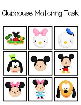 Clubhouse Matching Folder Game for Early Childhood Special Education