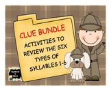 Clue Bundle - Activities to Review the Six Types of Syllables
