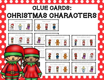 Clue Cards: Christmas Characters