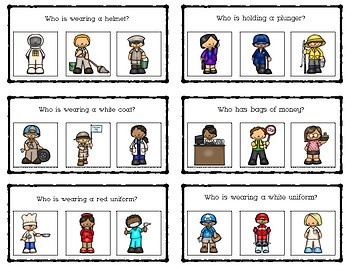 Clue Cards: Community Helpers