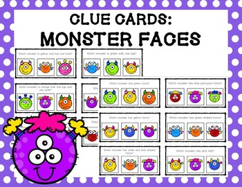 Clue Cards: Monster Faces