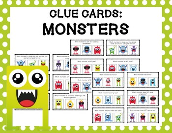 Clue Cards: Monsters