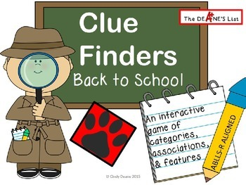 Clue Finders Back to School- An interactive ABLLS-R aligned game
