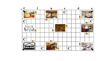 Clue Game for House and Objects- Spanish and French