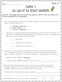 The Case of the Secret Message- Comprehension Packet