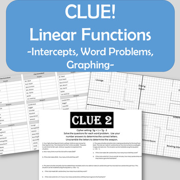 Matching Standard And Slope Intercept With Graphs Teaching Resources ...