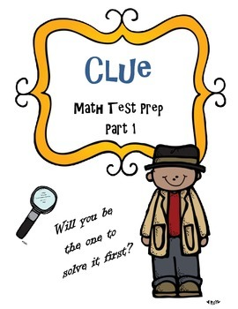 Math Activity Test Review Game: Clue Theme 5th/6th