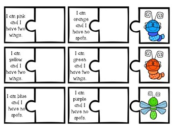 Clue Puzzles: Match the Bugs