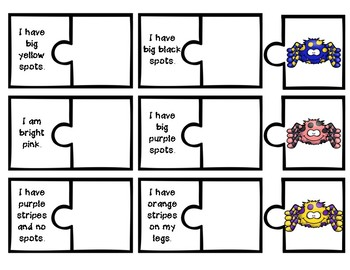 Clue Puzzles: Match the Spiders FREEBIE