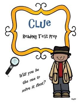 Reading Test Prep Game: Clue Theme (Fiction Text)