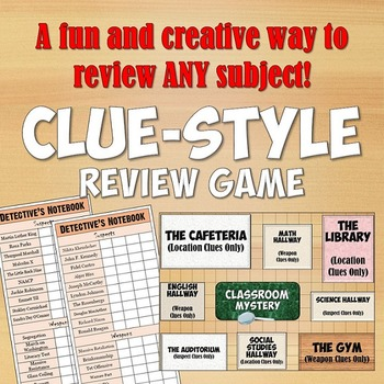 Clue-Style Review Game for ANY Subject
