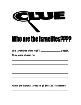 Clue: Who are the Israelites