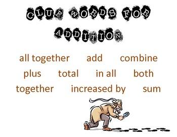 Clue Words - Addition, Subt... by Sandy Reed | Teachers Pay Teachers