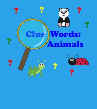 SMART Board Clue Words for Animals