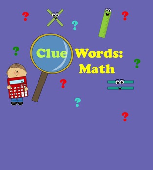SMART Board Clue Words for Math