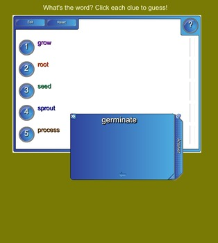 SMART Board Clue Words for Science