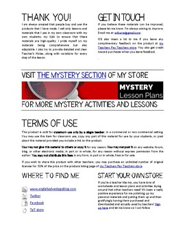 Critical Thinking Mystery Activity: The Break-In