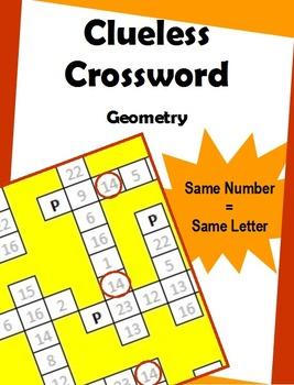 Clueless Crossword – Geometry
