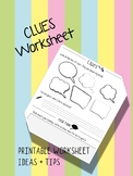 Clues - back to school activity
