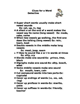 Clues for a Word Detective