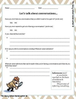 Clues in Conversation Freebie