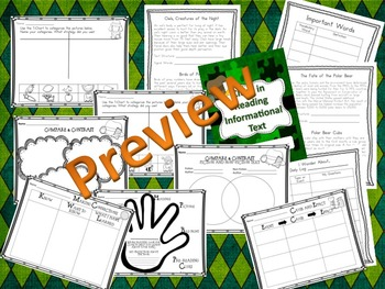 NONFICTION TEXT FEATURES - Passage, Graphic Organizers and Slide Shows