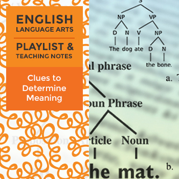 Clues to Determine Meaning - Playlist and Teaching Notes