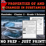 Cluster 2: Properties of and Changes in Substances - Manitoba - Grade 5 Science
